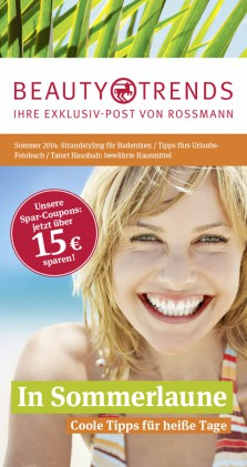 Rossmann Beauty and Trends Titel Sommer 2014