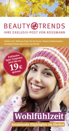Rossmann Beauty and Trends Titel Herbst 2014