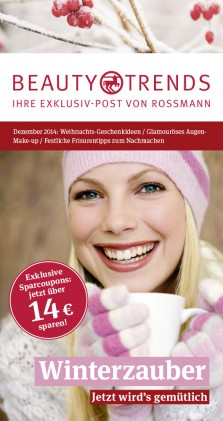 Rossmann Beauty and Trends Titel Dezember 2014