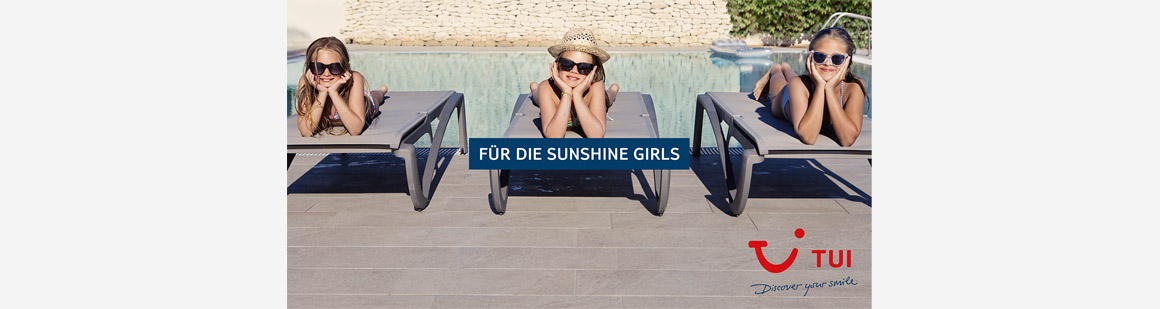 Mailingtitel: TUI for You Familie - Für die sunshine girls